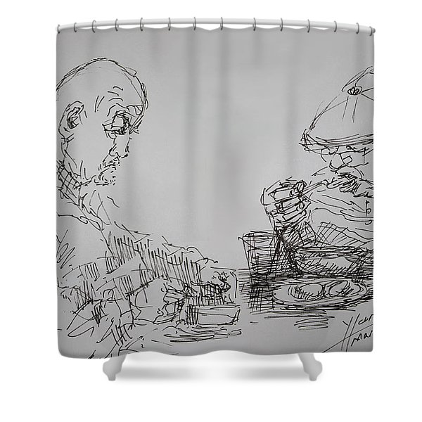 Eaters Shower Curtain