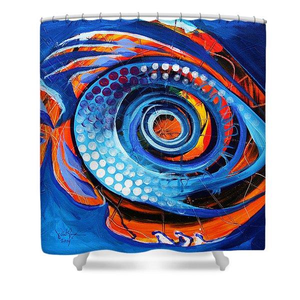 El Chupacabra Shower Curtain