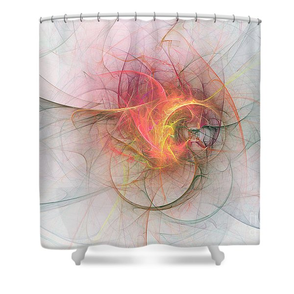 Electric Blossom Shower Curtain