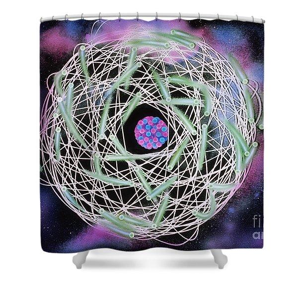Electrons Orbiting Atom Shower Curtain