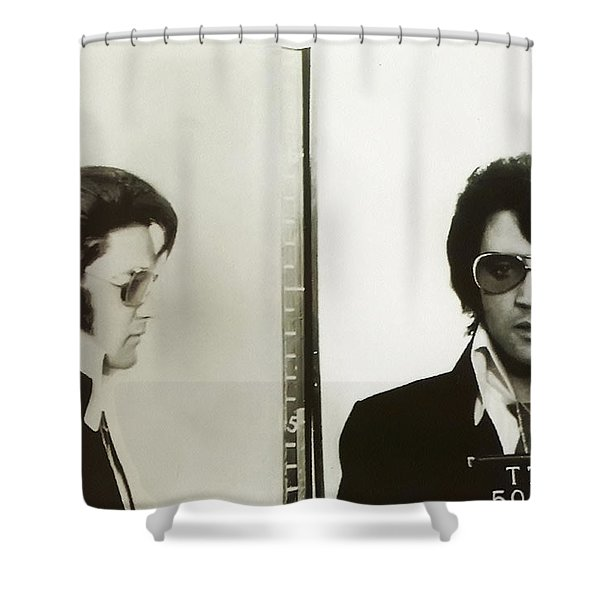 Elvis Mugshot 1970 Shower Curtain