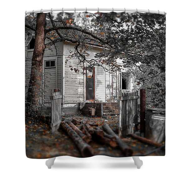 Empty And Abandoned Shower Curtain