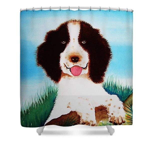 English Springer Spaniel Shower Curtain