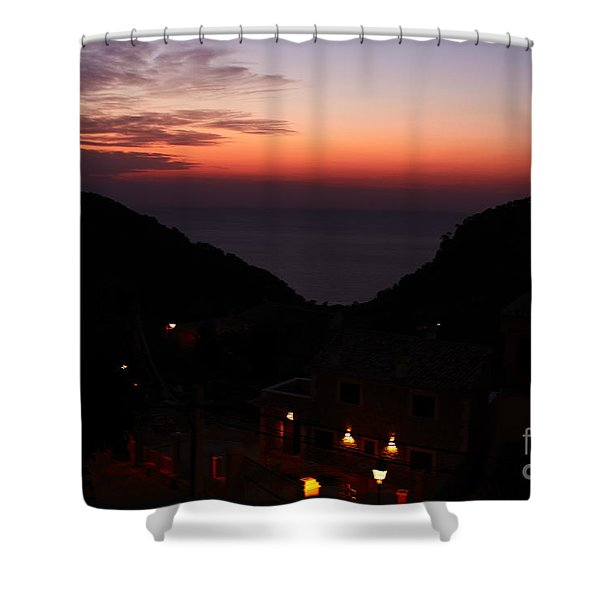 Shower Curtain featuring the photograph Estellencs View by Agusti Pardo Rossello
