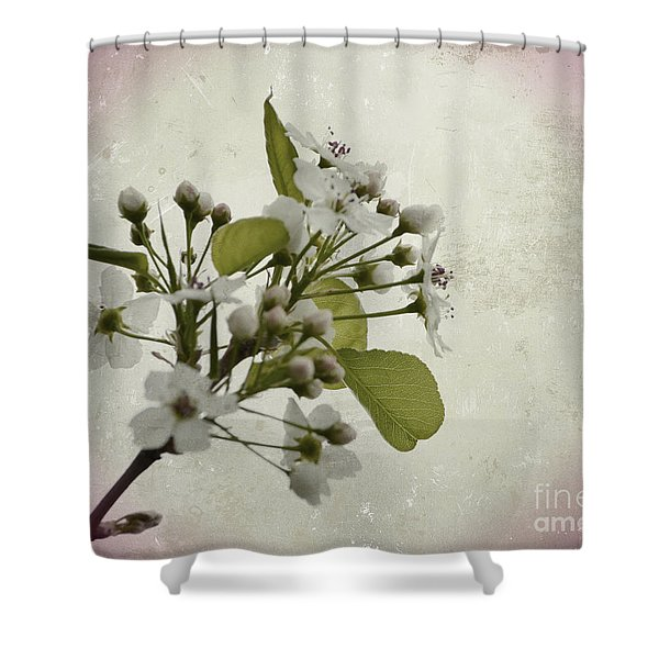 Etched In Love Shower Curtain