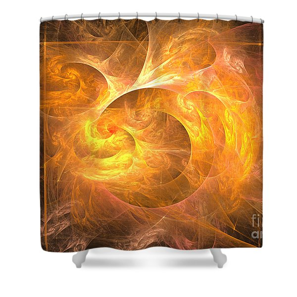 Eternal Flame - Abstract Art Shower Curtain