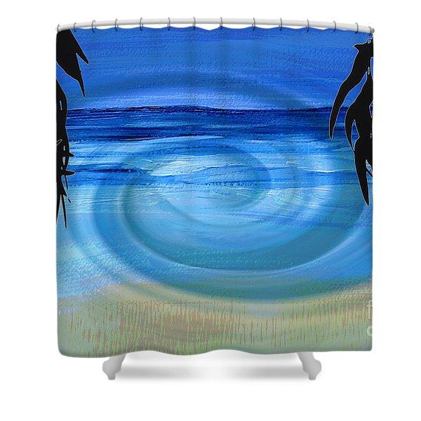 Eucalyptus Ocean View Shower Curtain