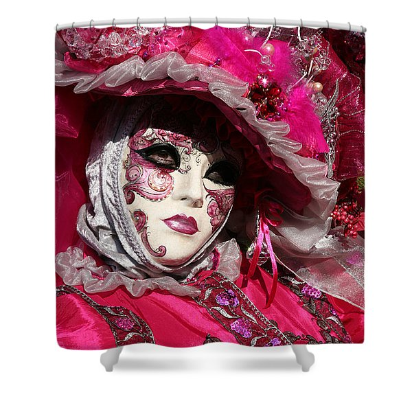 Eve In Pink Shower Curtain