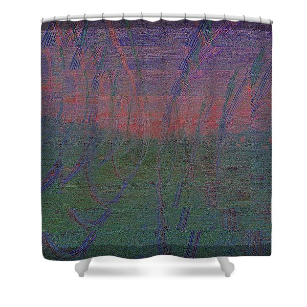Evening Rushes In Shower Curtain