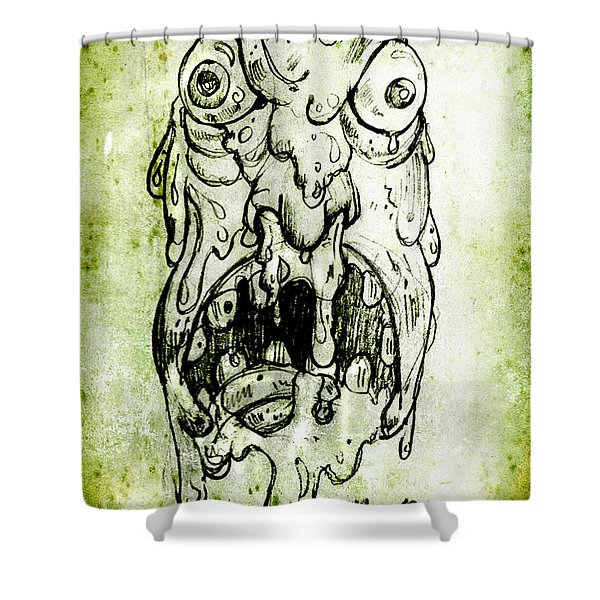 Evil Snot Monster Shower Curtain