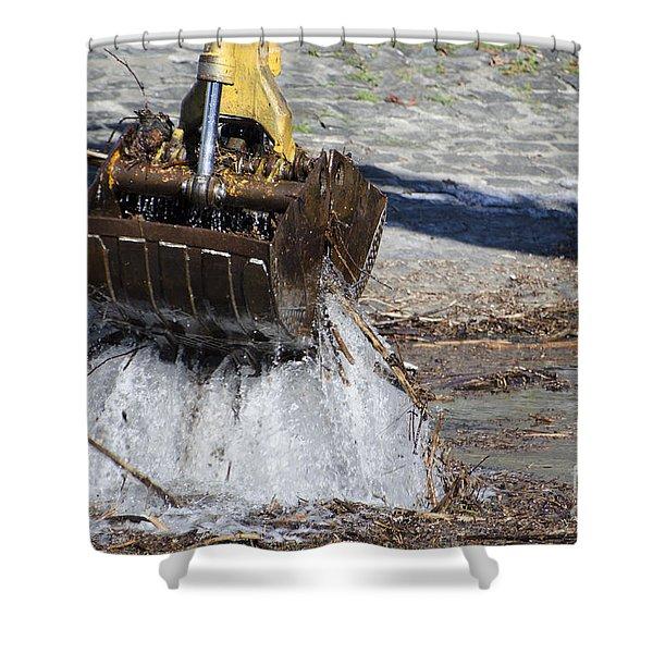 Excavator Shower Curtain