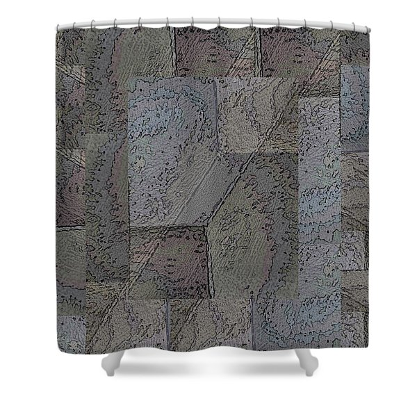 Facade 3 Shower Curtain