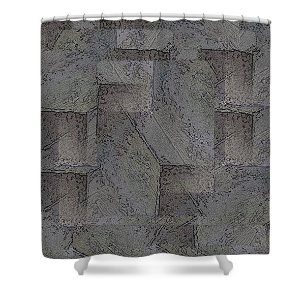 Facade 5 Shower Curtain