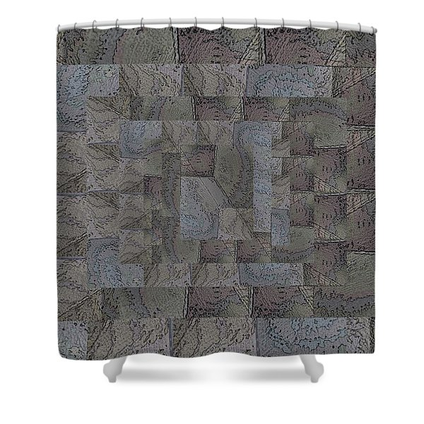 Facade 6 Shower Curtain
