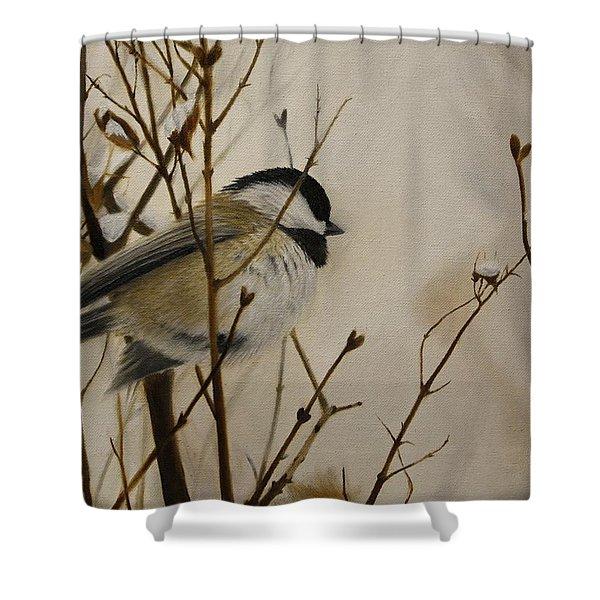 Faithful Winter Friend Shower Curtain
