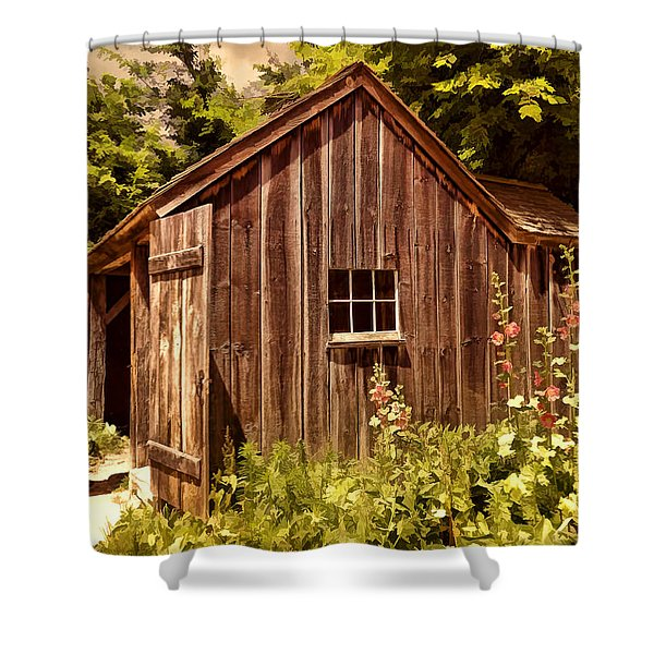 Farming Shed Shower Curtain
