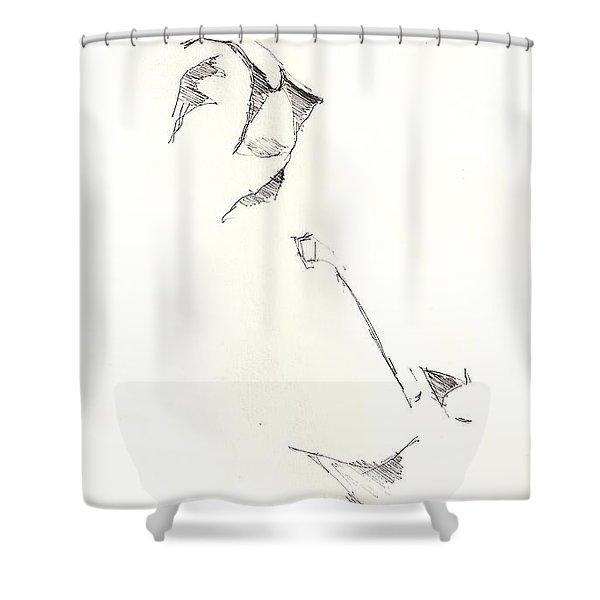 Fashion 1965 Three Shower Curtain