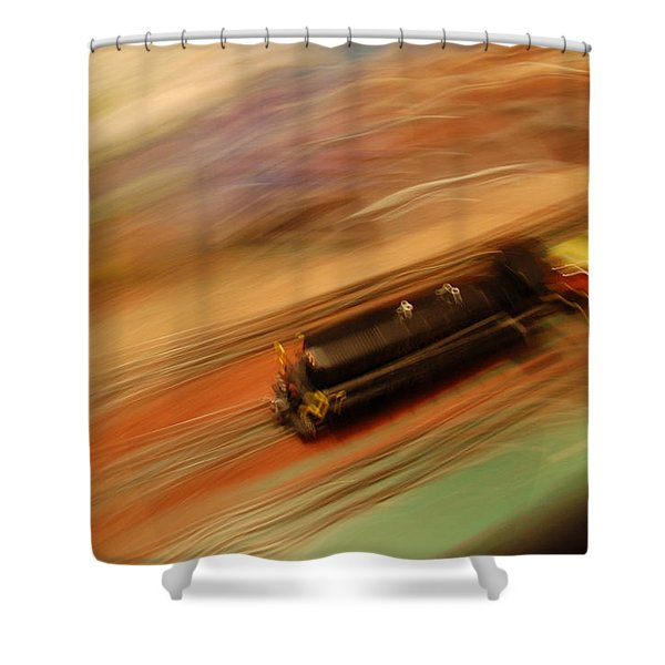 Fast Train Set Shower Curtain