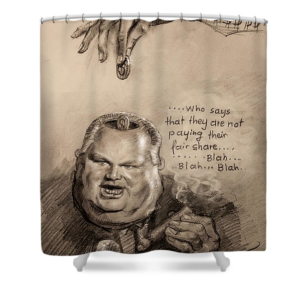 Feeding The Talking Heads Like Rush Limbaugh And Co Shower Curtain