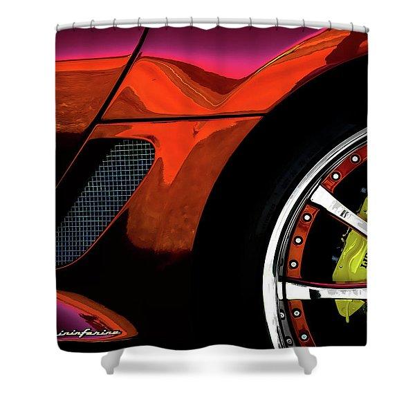 Ferrari Wheel Detail Shower Curtain