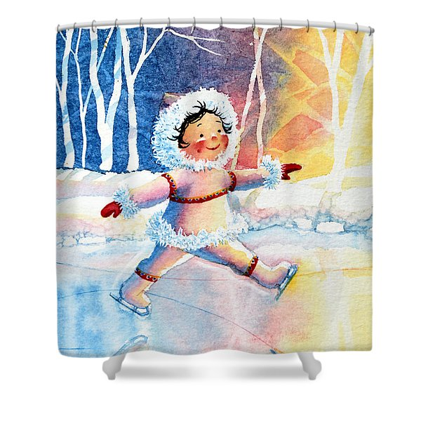 Figure Skater 11 Shower Curtain