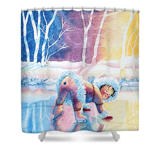 Figure Skater 12 Shower Curtain