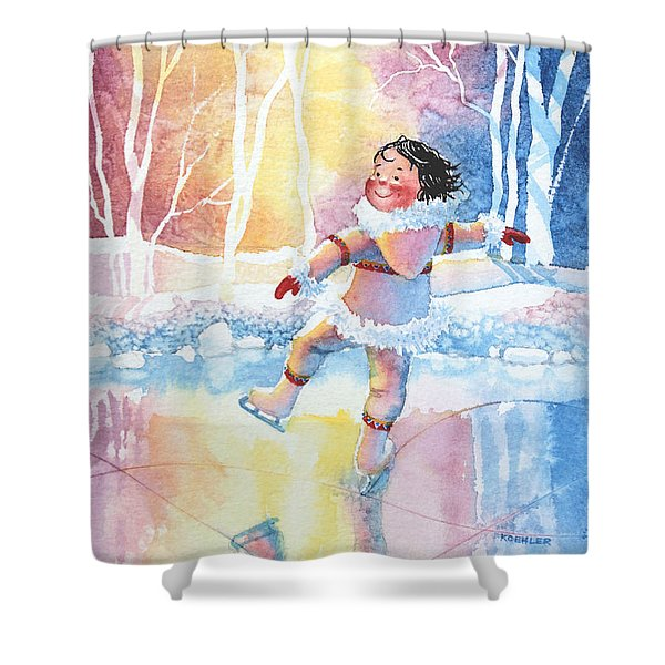 Figure Skater 13 Shower Curtain