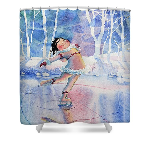 Figure Skater 14 Shower Curtain