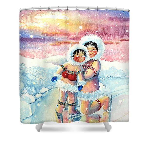 Figure Skater 7 Shower Curtain