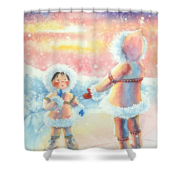 Figure Skater 8 Shower Curtain