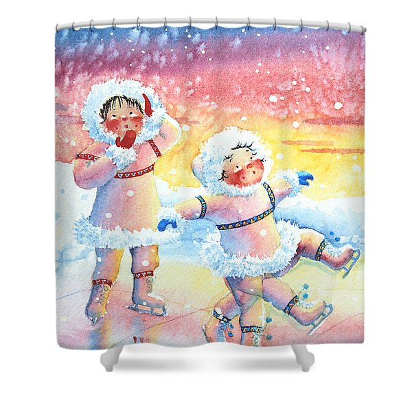Figure Skater 9 Shower Curtain