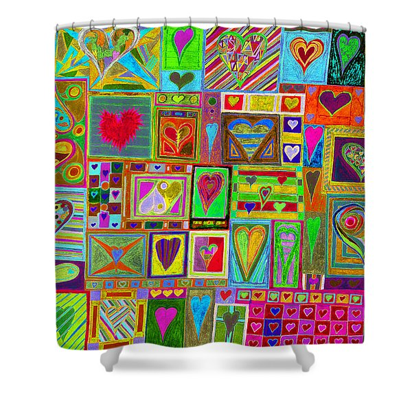 find U'r Love found    v15 Shower Curtain
