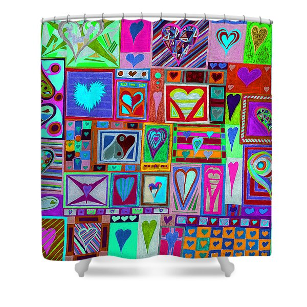 find U'r love found v1 Shower Curtain