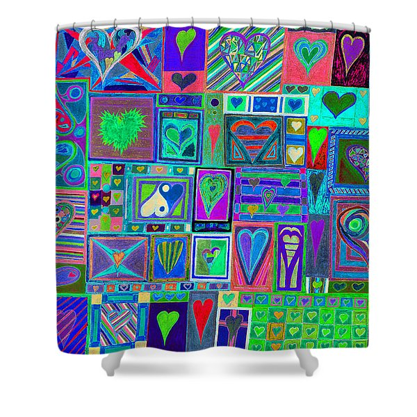 find U'r Love found    v13 Shower Curtain