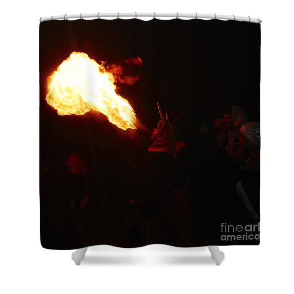 Shower Curtain featuring the photograph Fire Blower by Agusti Pardo Rossello