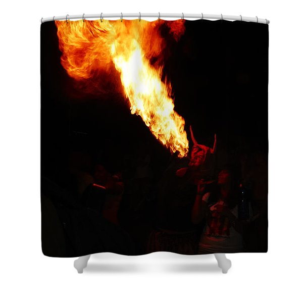 Shower Curtain featuring the photograph Fire Flower by Agusti Pardo Rossello