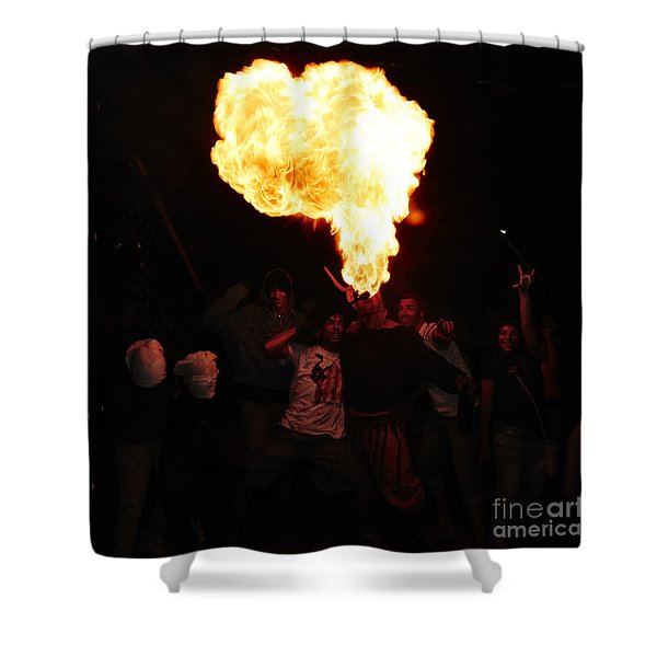 Shower Curtain featuring the photograph Fire Fungus by Agusti Pardo Rossello