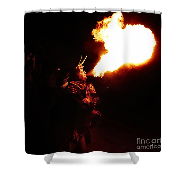 Shower Curtain featuring the photograph Fire Girl by Agusti Pardo Rossello