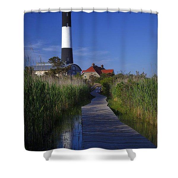 Fire Island Reflection Shower Curtain