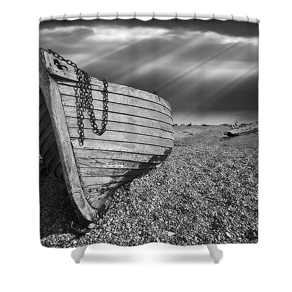 Fishing Boat Graveyard 2 Shower Curtain