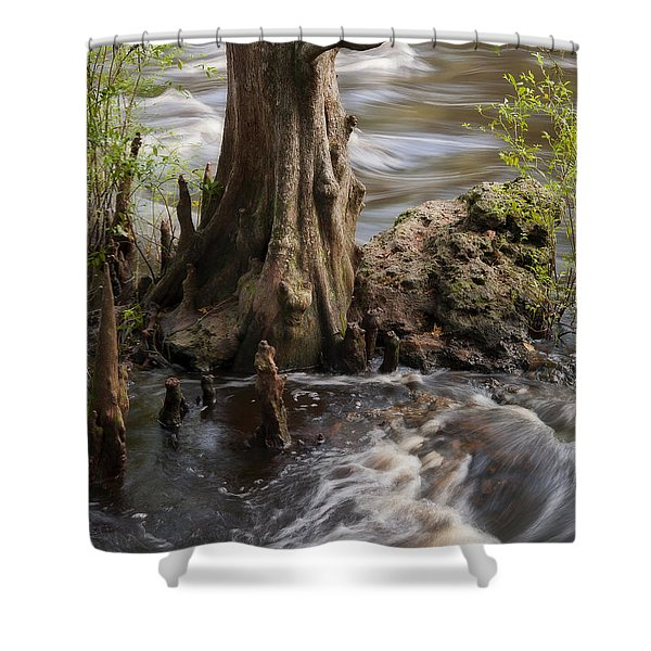 Florida Rapids Shower Curtain