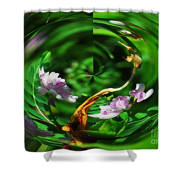 Flowers Gone Wild Shower Curtain