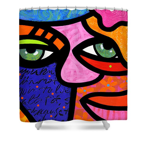 Flowers In Her Hair Shower Curtain