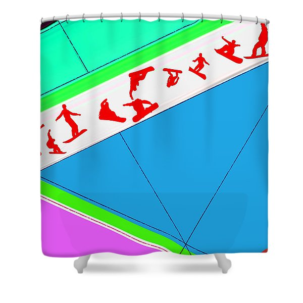 Flying Boards Shower Curtain