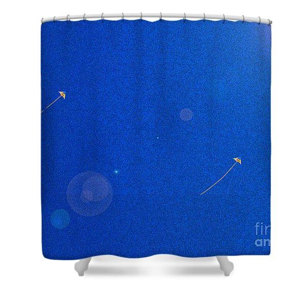Flying Kites  Shower Curtain