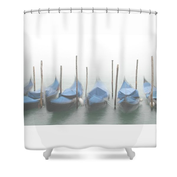Foggy Morning Grand Canal Shower Curtain