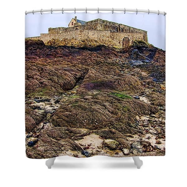 Fort National In Saint Malo Brittany France Shower Curtain