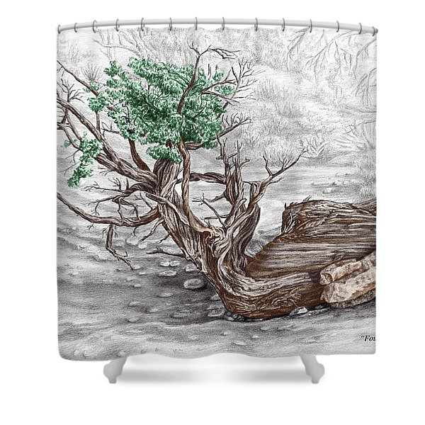 Found By Courthouse Butte - Color Tinted Print Shower Curtain