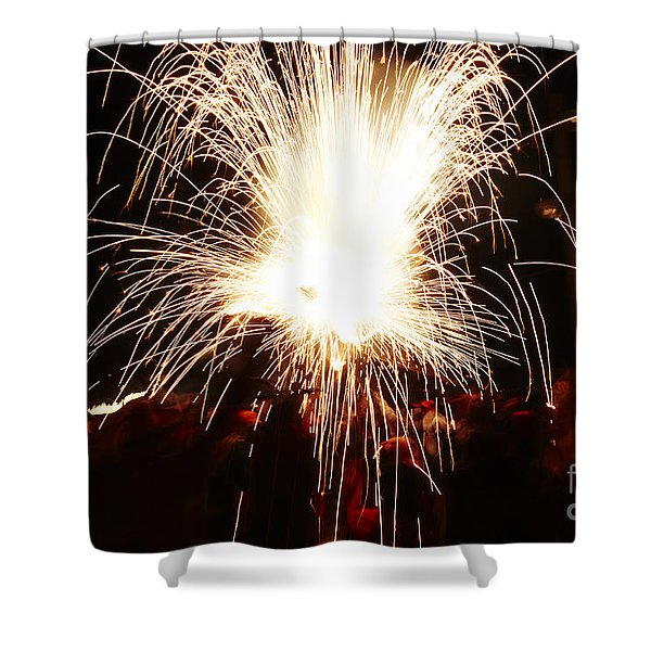 Shower Curtain featuring the photograph Fountain Of Sparks by Agusti Pardo Rossello
