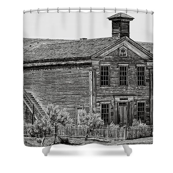 Free Masons Clubhouse - Bannack Montana Ghost Town Shower Curtain